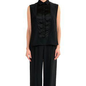 Maison Margiela 1 Women's Black Silk Jumpsuit